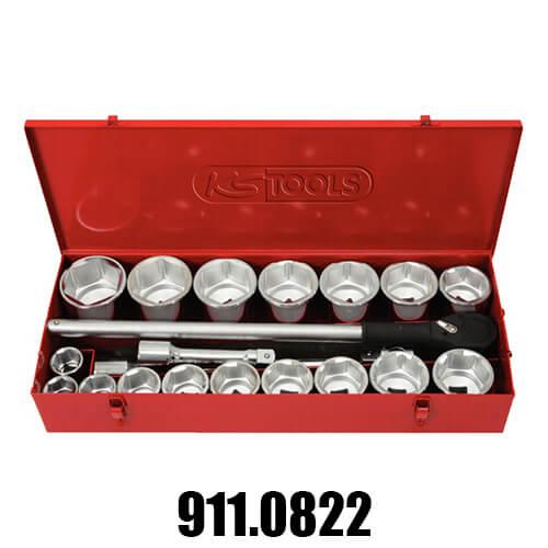 """Coffrets de Douilles et Cliquets Accessoires KS Tools 1"""""""