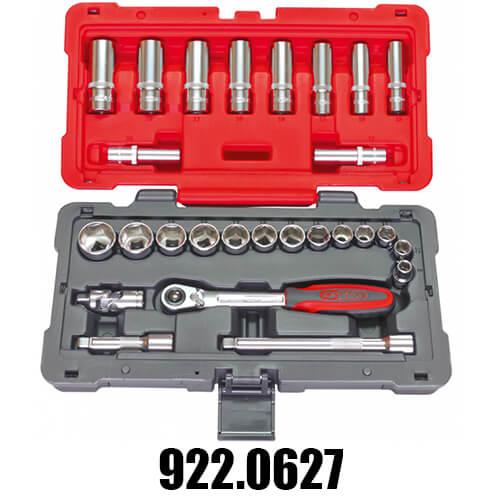 Coffrets de Douilles et Cliquets Accessoires KS Tools 3/8