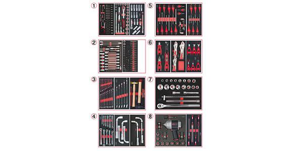 Composition d'Outils PL 8 Tiroirs pour Servante 354 pièces KS Tools